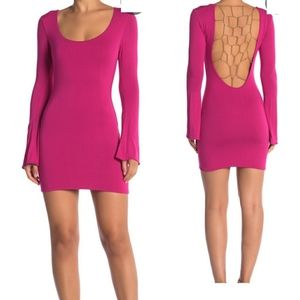 Sky Pomona laticce chain back dress M